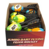 48 Units of Jumbo Dart Flying Foam Rocket
