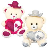 """6 Units of 20"""" Bear With/Heart+Hat"""