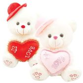 """12 Units of 16"""" Bear With /Heart"""