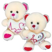 12 Units of Twelve Inch Bear With Heart - Toothbrushes and Toothpaste