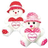 """12 Units of 12"""" Bear With Heart And Cap"""