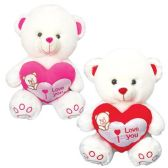 """12 Units of 9"""" Bear With Heart"""