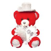 """12 Units of 9"""" Red Bear With/Heart+Hat"""