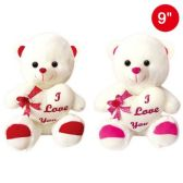 "12 Units of 9"" Bear With Heart - Valentine Decorations"