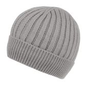 24 Units of MEN'S CABLE BEANIE WITH SHERPA FLEECE LINING