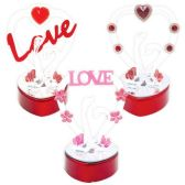 60 Units of Crystal Heart Centerpiece - Valentine Decorations