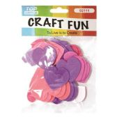 144 Units of EVA Hearts Craft Fun - Valentine Cut Out's Decoration