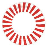 """96 Units of 9""""/8 Count paper plate red"""