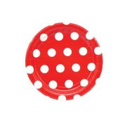 144 Units of Seven Inch Eight Count Paper plate red - Valentine Decorations