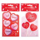 96 Units of Valentines Day Card With Envelope - Valentine Gift Bag's