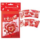 48 Units of V-day mini card 8 Pack - Valentines