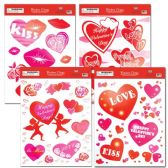 96 Units of V-day window cling - Valentine Decorations