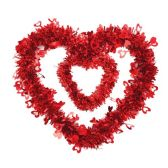 "96 Units of 18"" V-day tinsel decoration - Valentine Decorations"