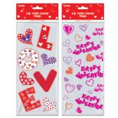144 Units of Eighteen Count Cello Candy Bag Valentines - Valentine Gift Bag's