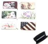 "24 Units of 7.5""X4"" ZIPPERED WALLET [ASSORTED PRINTS"