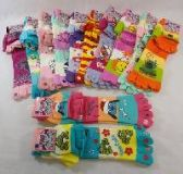 48 Units of TOE SOCK AND GLOVE SET [PRINTED] - Winter Sets Scarves , Hats & Gloves