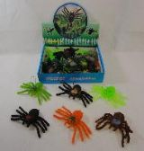 "96 Units of FLEXIBLE TOY SPIDER 5"" - Animals & Reptiles"