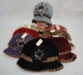 36 Units of LADIES KNITTED HAT [FLOWER & FUR] - Winter Beanie Hats