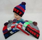 24 Units of KNIT HAT WITH POMPOM [WHO GIVES A SHIT]