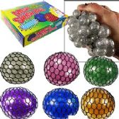 96 Units of GLITTER MESH GRAPES SQUEEZE STRESS BALLS