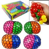 96 Units of 2-TONE MESH GRAPES SQUEEZE STRESS BALLS