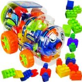 12 Units of 23 PIECE TRAIN INTERLOCKING BLOCK SETS.