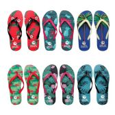 96 Units of Womens Flip Flop Assorted Palms
