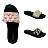 30 Units of Women's Pearl Slide Sandals - Womens Sandals