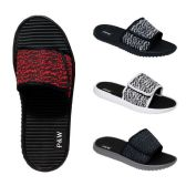 48 Units of Men's Velcro Slippers Assorted Colors