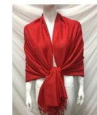 12 Units of LADIES FASHION SCARVES IN RED - Fashion Accessories