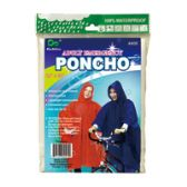 72 Units of Adult Rain Poncho - Umbrellas & Rain Gear