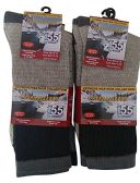 6 Pairs of excell Men's Winter Warm Thermal Crew Socks, Size 10-13