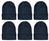 6 Pack of excell Mens Womens Winter Beanie Hats, Thermal Sport Warm