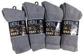 12 Pairs of WSD Mens Cotton Crew Socks, Solid, Athletic (Grey) - Mens Crew Socks