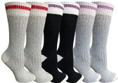 6 Units of Merino Wool Socks for Women, Soft Warm Thermal Sock, Moisture Wicking - Womens Thermal Socks