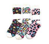 3 Pairs of Sherpa Fleece Lined Slipper Socks, Gripper Bottoms, Best Warm Winter Gift (Leopard Prints)