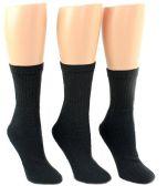 24 Pairs Pack of WSD Women's Tube Socks, Value Pack, Athletic Socks (Black, 9-11) - Women's Tube Sock