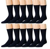 6 Pair Of excell Mens White Diabetic Neuropathy Socks, Edema, Loose Fitting (Navy) - Men's Diabetic Socks