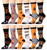 12 Pairs excell Women's Halloween Novelty Cute Socks - Womens Crew Sock