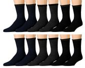12 Pairs of Mb55 Mens Casual Thermal Tube Socks in Assorted Colors, Size 10-13 - Mens Thermal Sock