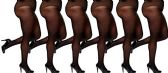 6 Pack of WSD Plus Size Womens Ultra Sheer Pantyhose, Microfiber, Extra Wide Queen Size (Black, Queen) - Womens Pantyhose