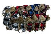 excell Men Faux Fur Aviator Hat, One Size (Assorted Plaid (12 Pack)) - Trapper Hats