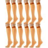 12 Pairs of excell Trouser Socks for Women, 20 Denier Knee High Dress Socks (Orange) - Womens Dress Socks