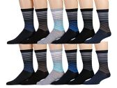 12 Units of Yacht & Smith Mens Dress Socks, Cotton Blend Assorted Patterns - Mens Dress Sock