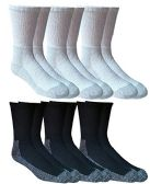 6 PAIR PACK MEN+óGé¼GäóS STEEL TOE COTTON HEAVY DUTY WORK SOCKS