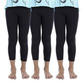 3 Pack of Mod & Tone Girls Footless Tights, (7-8 (3-7 Years), Black) - Childrens Tights