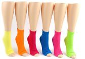 24 Pairs Pack of WSD Women's Pedicure Socks, Value Pack, Open Toe Socks (Solid Colors, 9-11)