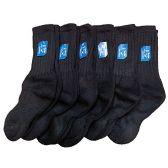 6 Pairs of excell Childrens Merino Wool Socks, Black, Mens Womens