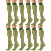 12 Pairs of excell Trouser Socks for Women, 20 Denier Knee High Dress Socks (Hunter) - Womens Dress Socks