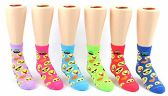 24 Pairs Pack of WSD Toddler's Crew Socks, Value Pack, Novelty Socks (Emoji Print, 2-4) - Girls Ankle Sock